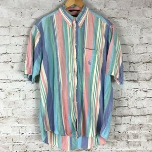 Vintage Nautica Short Sleeve Button Up Shirt Large